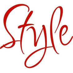 """Style"" Text ❤ liked on Polyvore featuring text and words"