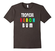 Men's Tropical Beach Bum T Shirt 2XL Asphalt Limited Rags…
