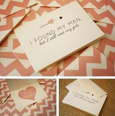 This is a cool invitation card for your bridesmaids and maid of honor ! haha