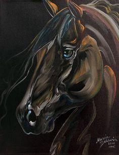 Art: KNIGHT RIDER HORSE by Artist Marcia Baldwin