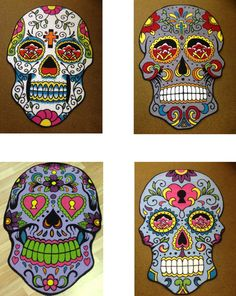 *NEW* Sugar Skull Rugs - Tattoo Art - Day of the Dead Inspired Flooring 100x150