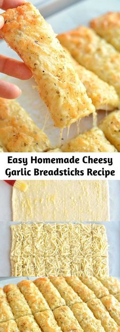 Slow Cooker Recipes, Crockpot Recipes, Cooking Recipes, Casserole Recipes, Cheesy Garlic Breadsticks Recipe, Breadstick Recipe, Appetizer Recipes, Snack Recipes, Appetizers