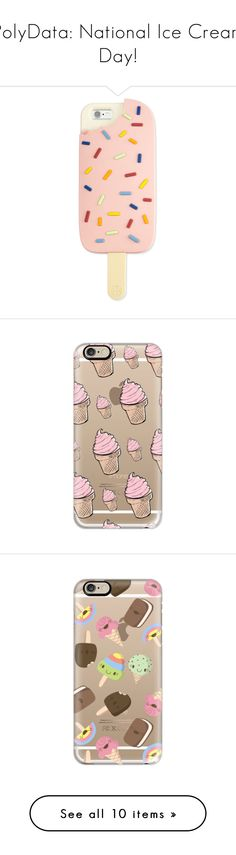 """""""PolyData: National Ice Cream Day!"""" by polyvore ❤ liked on Polyvore featuring NationalIceCreamDay, polydata, accessories, tech accessories, phone cases, phones, cases, electronics, pink and tory burch"""