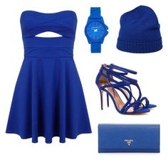 """""""Party Outfit"""" by basiap ❤ liked on Polyvore featuring Vince Camuto, Miss Selfridge, malo, Ted Baker and Prada"""