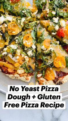 Gluten Free Pizza, Gluten Free Recipes, Vegan Recipes, Cooking Recipes, Vegan Pizza, Healthy Low Carb Recipes, Healthy Snacks, Healthy Eating, Italian Recipes