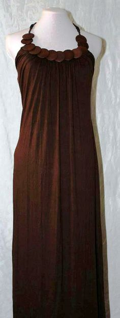 Soft brown maxi dress