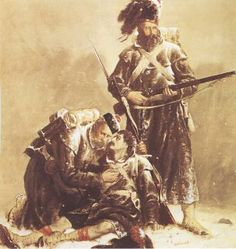 Comrades by Robert Gibb. A dying soldier of the Black Watch is supported by his comrade, while another stands to protect them, as the ranks of the Highlanders march on, after the battles at Sebastopol during the Crimean war. Military Art, Military History, Military Uniforms, Istanbul, Male Friendship, English Army, Crimean War, Brothers In Arms, Highlanders