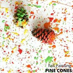 Make a fun pinecone painting with this easy process art activity for kids. All you need is acrylic paint and pine cones to get started.