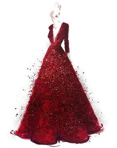 Fashion Illustration Elie Saab gown worn by Pink during her Wizard of Oz anniversary tribute to Judy Garland at The Oscars. by Katie Rodgers Fashion Illustration Source : Elie Saab gown worn by Paper Fashion, Fashion Art, New Fashion, Trendy Fashion, Classy Fashion, Illustration Mode, Fashion Illustration Sketches, Fashion Design Sketches, Design Illustrations