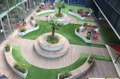 Moso Bamboo X-treme, Kondor Wessels - Awood Buitenparket & Gevelparket Landscape Architecture Design, Architecture Details, Landscape Plane, Parque Linear, Gazebo Roof, Terraced Landscaping, Plaza Design, Paving Design, Garden Design Plans