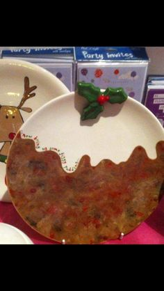 Figgy Pudding Plate Hand painted. Figgy Pudding, Pie Dish, Lush, Hand Painted, Plates, Dishes, Gifts, Design, Licence Plates