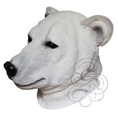 Latex Overhead Realistic Animal Polar Bear Fancy Props Carnival Party Mask