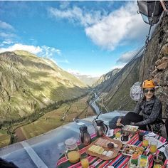 Peru's incredible Skylodge Adventure Suites by Natura Vive with glass pods you sleep in 400m up the side of a cliff. Check out Spot.com for more cool places.