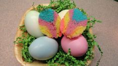 Tie-Dye Easter Cupcakes Baked in Egg Shells Such a cute idea!