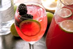 Black Rose. It's Rose wine amped up with blackberries, vodka, and lime. Delish!