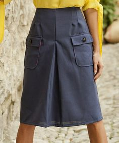 Take a look at this Blue Quarry Wool-Blend Skirt by Shabby Apple on #zulily today!