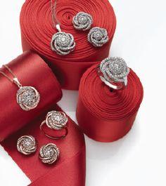 What better way to wear love knot jewelry...diamond encrusted    Wrapped in love #diamond #jewelry #macys BUY NOW!