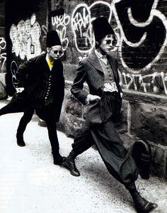 Romeo Gigli, Harper's Bazaar, September 1994. Photograph by Max Vadukul.