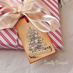 Christmas Tree Tags Celebrate Tags Large Tie by SweetlyScrappedArt, $3.95