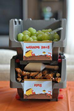 construction party food ideas - fun names - unique food ideas
