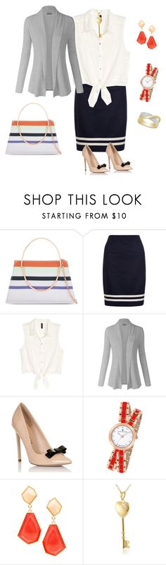 """Orange"" by tsurumi-mai on Polyvore featuring ファッション, Ted Baker, Hobbs, H&M, Lipsy, Christian Van Sant, JustFab, Bling Jewelry と Victoria Townsend"