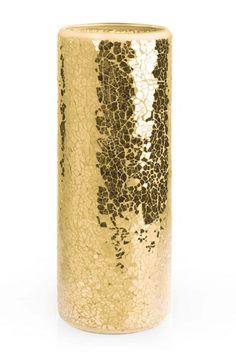 Glamorous metallic gold candle - perfect as wedding centerpiece #weddingdecor #wedding #gold #goldwedding #glamwedding