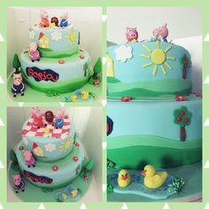 Peppa Pig, Picnic, Birthday Cake, Cakes, Desserts, Food, Tailgate Desserts, Deserts, Cake Makers