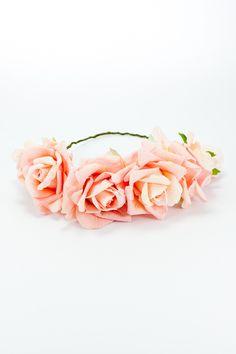 Corona floral Eternel rosa - www.fashion-pills.com