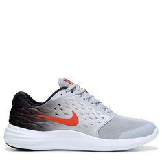 Nike Kids' Lunarstelos Running Shoe Grade School Shoes (Grey/Black/Orange)
