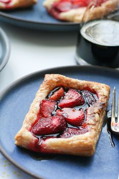 Balsamic White Wine Strawberry Tarts on In This Kitchen