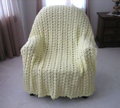You've probably admired gorgous afghans in other people's homes but now it's your turn to captivate your guests with the Luscious Lace Crochet Blanket. The lace pattern is made up of the fan shell stitch, shell stitch, picot stitch, and the large she