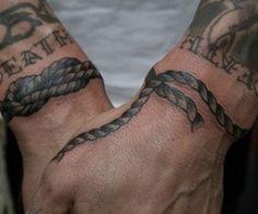 Wrist Rope Tattoos