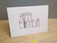 Happy Birthday Notecard. $5.00, via Etsy.