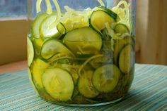 Low-Sodium Refrigerator Pickles. 3/3/12-in the refrigerator right now! Peggy