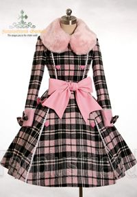LOVE!!!!!!!!!!   Sweet Lolita Double Breasted Thick Wool Coat in Plaid
