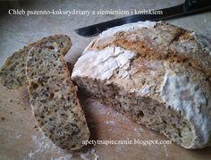 Apetyt na pieczenie : Chleb pszenno-kukurydziany z siemieniem i kminkiem...
