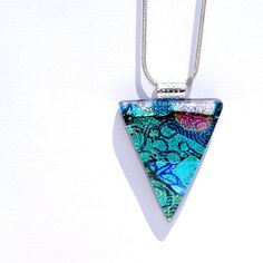 Poetry in Motion Fused Glass Jewelry Dichroic by IntoTheLight