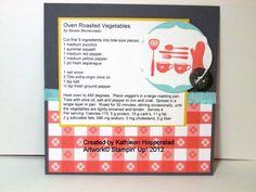 Super cute recipe cards! Idea - bring a yummy dish to share at a party and attach the card for the host.  (could monogram the dish/pan and leave as a gift as well. <3).