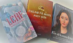 Bokhyllan: Valmöjligheter för läsning till helgen och en fika...