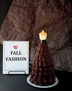 a miniature version of an icing ballgown