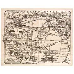 Tim Holtz World Rubber Stamp
