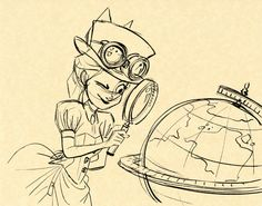 Hullabaloo drawing, I love maps and globes