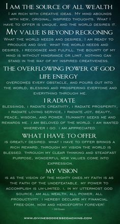 This is no ordinary prayer! If you find that you are currently faced with financial overwhelm, put this prayer into action for the next 30 days and watch God work for you!  www.DivineGoddessCoaching.com