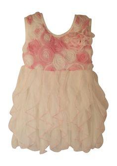 Popatu Baby Girl's Ruffle Tiered Dress. 18 months.  Nice Easter Dress.