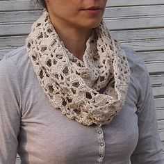 Infinity scarf PDF crochet pattern - circle lace loop - DIY tutorial - Quick and easy gift on Etsy, $4.90