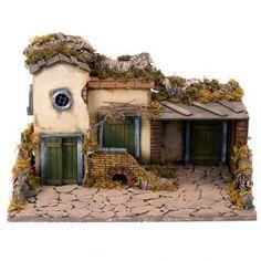 pesebres en madera - Buscar con Google Christmas Village Houses, Christmas Nativity Scene, Christmas Villages, Belem, Portal, Creative Artwork, Building A House, Catholic, Italy