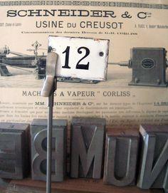 Number 12 Antique Enamel Door Plaque @ Ipso