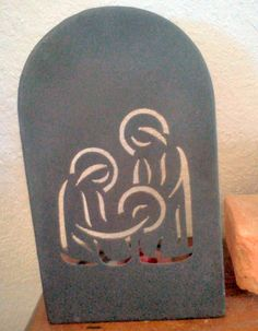 Nativity - iron cut-a-way Ceramic Christmas Decorations, Xmas Ornaments, Christmas Makes, Christmas Holidays, Nativity Silhouette, Silhouette Vinyl, Christmas Nativity, Christmas Crafts, Art Diy