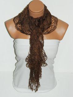 Latest Fashion filet knit brown women scarf by WomanStyleStore, $19.00