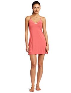 Calvin Klein Womens Essentials with Satin VNeck Chemise Poise Small --  Click for more Special 108cea053